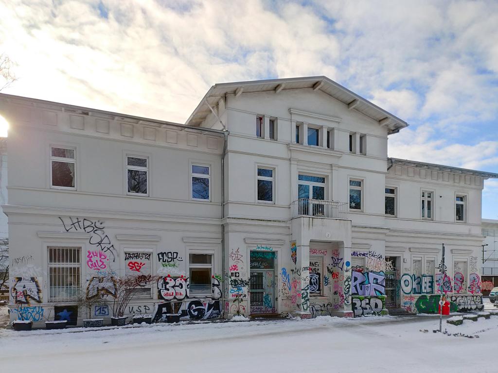 Erstes Bahnhofsgebäude Sternschanze - Aufnahme vom 31.01.2021