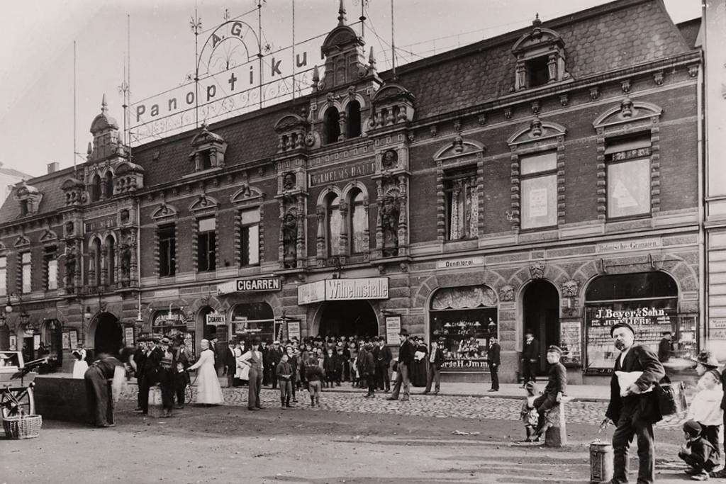Erster Bahnhof im Stadtteil Sternschanze. Foto vermutlich aus 1900.